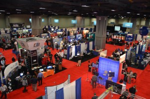 A topside view of the Government Video Expo