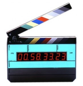 Timecode displayed on a scene marker.