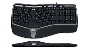 This is a photo of Microsoft's Standard Ergonomic Keyboard