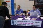 The Word Wizards Inc table at the WIFV job fair seen from the front