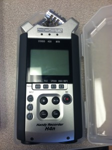 The Zoom H4n HD audio recorder and interface