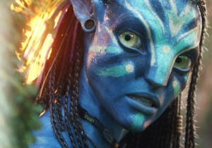 One of the Navi from Avatar looking intense