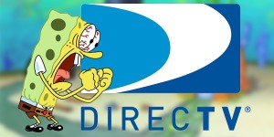 Sponge Bob Wags his fists at DirecTV