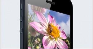 The iPhone 5 retina display