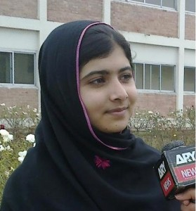 Malala during an interview