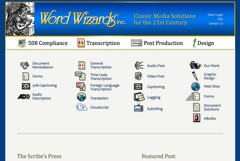Word Wizards, Inc. New Website