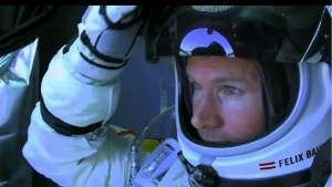 Felix the fearless Sub-astronaught, looks out from his capsul as Stratos prepares for launch.