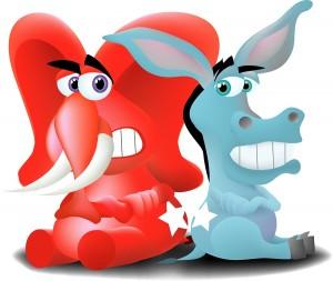Red Elephant vs Blue Donkey