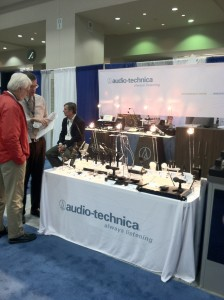 Audio technica Shows off their gear at the 2012 GV Expo.