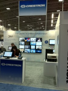 Crestron display showed off their top of the line switchers, converters and netowrking solutions.