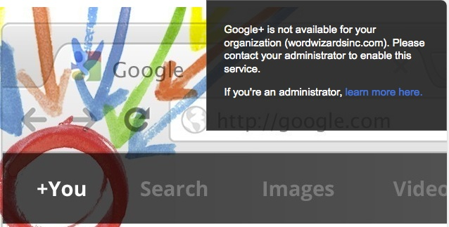 Google plus is not available