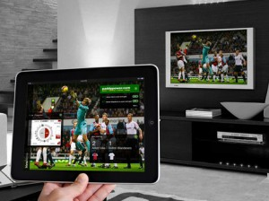 Multiple screens with streaming television capabilities.