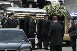 Whitney Houston's Coffin Carried To Her Grave
