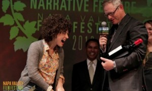 Giving out awards at the Napa Valley Film Festival
