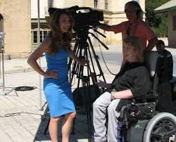 Director Jenni Gold on the set for CinemAbility with her staff.