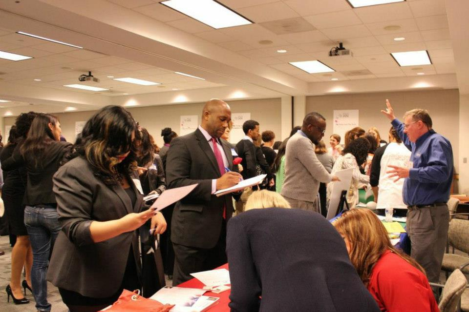 Applicants at the WIFV job fair.